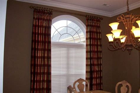 how to hang curtains on arched window drapes over arched window home pinterest