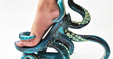 octopus high heel shoes that let you walk on tentacles