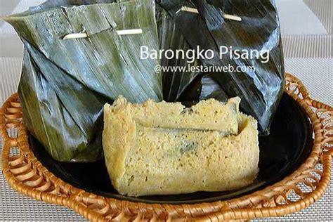 kumpulan resep asli indonesia barongko pisang