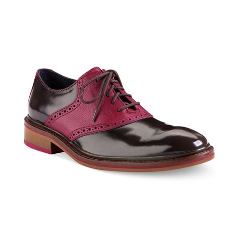 cole hann shoes cole haan colton saddle laceup shoes in brown for