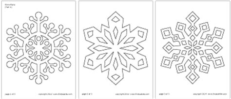 a4 printable snowflake template snowflake printable templates coloring pages