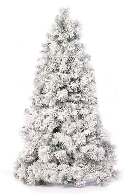 prelit flocked artificial christmas trees