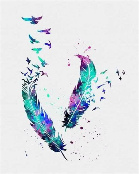 tattoo feather watercolor watercolor feather tattoo tattoos piercings