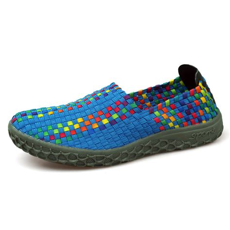 colorful athletic shoes colorful made knitted casual toe athletic