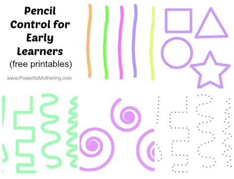 pencil control early learners