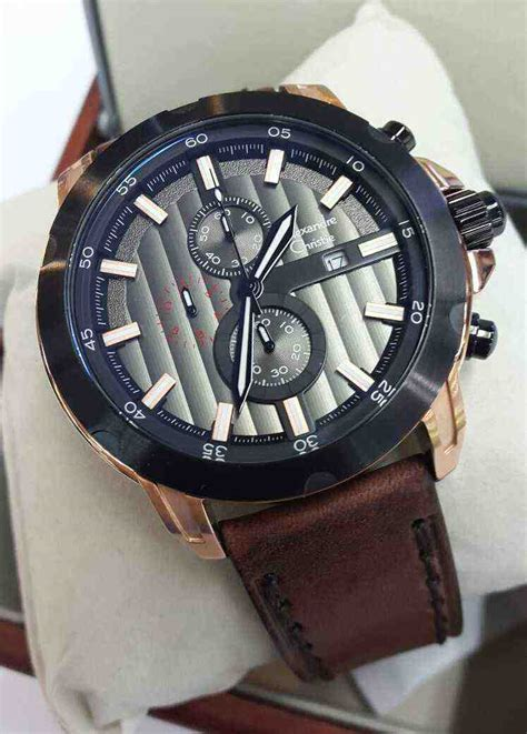Alexandre Christie Ac2638 Brown Leather 100 Original jual alexandre christie ac 6397mc black brown leather baru jam tangan terbaru murah