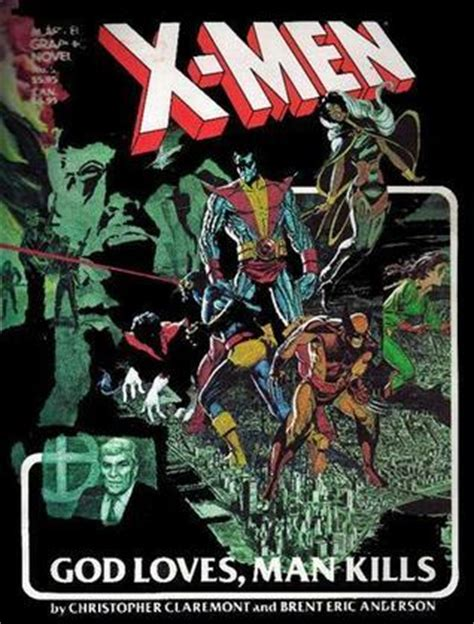 x men god loves man x men god loves man kills by claremont