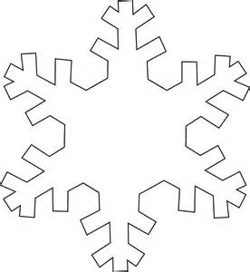 snowflake outline template snowflake outline clip at clker vector clip
