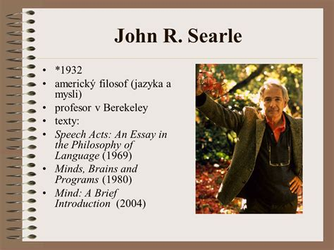 Searle 1969 Speech Acts An Essay In The Philosophy Of Language by Turingův Test A N 225 Mitky Ppt St 225 Hnout