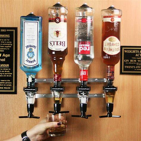 Bar Stuff Wall Mounted 4 Bottle Measure Bracket Pub Measure