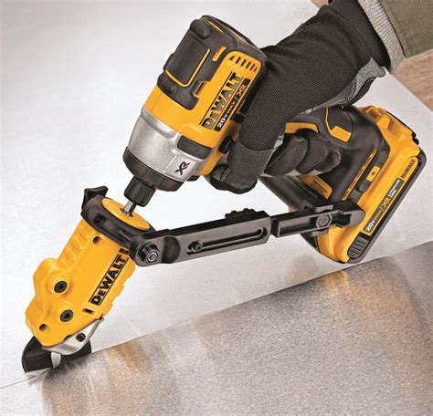 New Dewalt Shear Attachment Works with Your Drill or Impact Driver