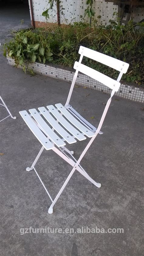 white folding bistro chairs white color powder coated metal folding bistro chair