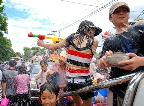 is new year celebrated in thailand no powder sale on silom road for songkran samui