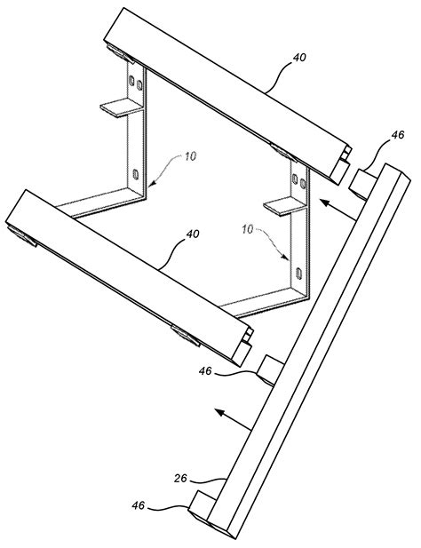 awning support brackets patent us7861990 combination awning bracket and light