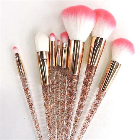 8 Makeup Brush Set glitter unicorn makeup brush set 8 pieces