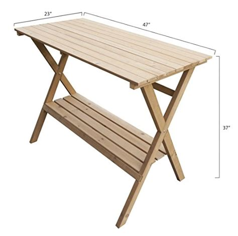 merry garden potting bench merry garden fir wood potting bench and console table