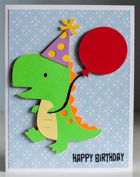 printable birthday cards dinosaur free pin by janine legg on cricut pinterest