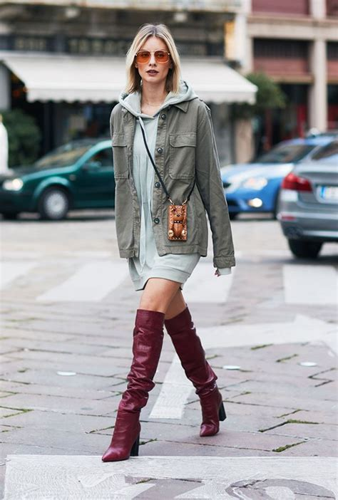 how to wear the knee boots and look stylish