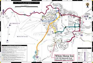 mammoth town map mammoth lakes california mappery