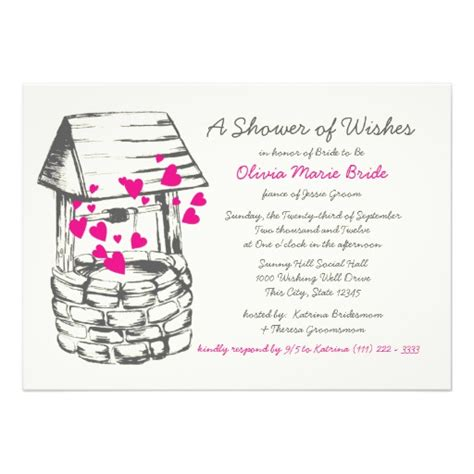 wishing well bridal shower invitations baby well wishes quotes quotesgram