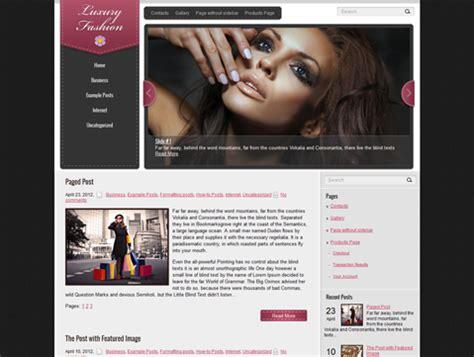 wordpress themes free luxury luxuryfashion free wordpress theme