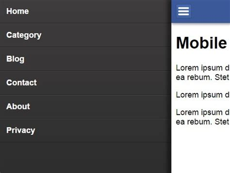jquery mobile menu jquery mobile menu plugins jquery script