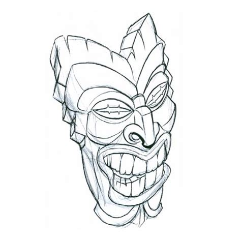 tribal tiki tattoo tiki mask2 tribal design flash pictures