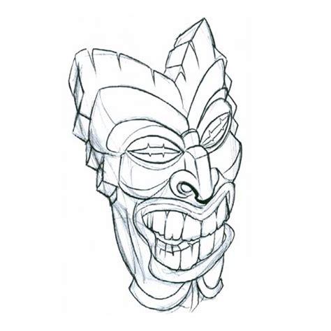 tiki tribal tattoo tiki mask2 tribal design flash pictures