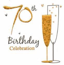 36 x 70th birthday celebration invitations 70th party