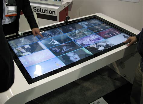 multi touch turns table  collaboration surface intel