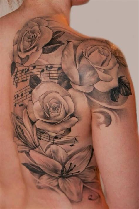 music rose tattoo designs collection of 25 and note designs