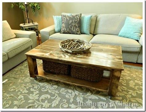 do it yourself rustic coffee table for the home