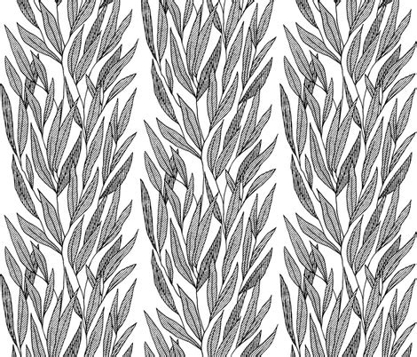 pattern leafy columns leaf column stripes fabric blackgamma spoonflower