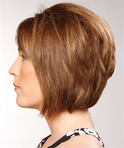 formal hairstyles layered hair medium straight formal bob hairstyle with side swept bangs