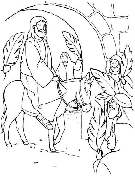 coloring page of jesus on palm sunday 43 best images about palm sunday on pinterest maze