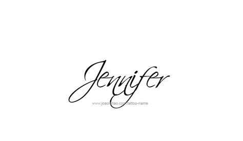 jennifer name tattoo designs name designs
