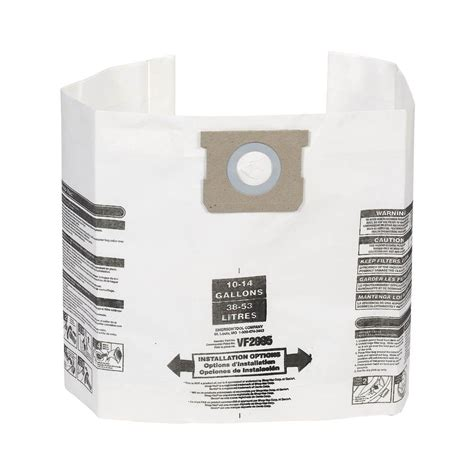 multi fit filter bags for 10 gal to 14 gal genie and
