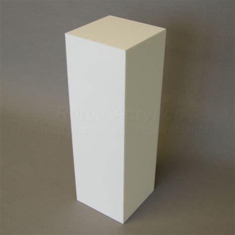 White Display Pedestal 40cm square white acrylic display pedestal plinth 60cm