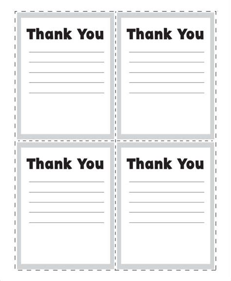 Thank You Note For Template