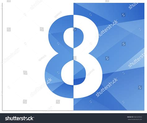 a divide of two halves books scalable vector illustration number 8 divided stock vector