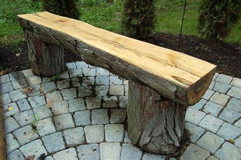 bench made out of tree trunk reciclado troncos y ramas de arboles facil y rapido