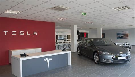 Tesla Car Dealership Tesla Opens Second Dealership In U K Gtspirit