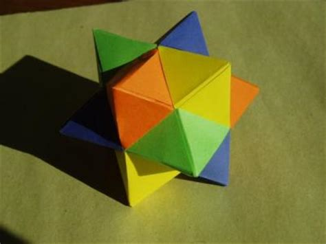 Rhombic Dodecahedron Origami - origami