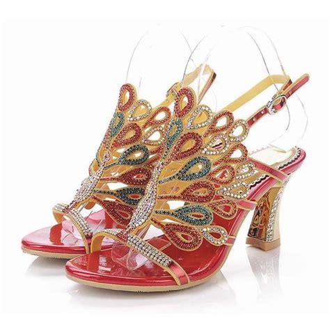bling high heels for sale sale 2016 peacock rhinestone high heeled sandals