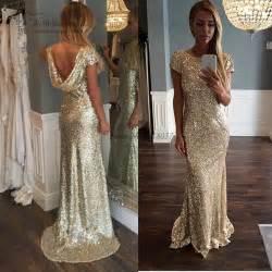aliexpress com buy cheap gold sequin evening gowns