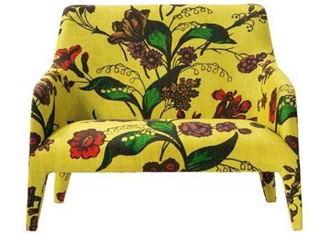 Yellow Upholstered Chair Design Ideas Floral Fabric Explosion Designer Custom Source
