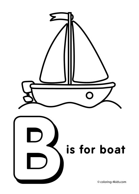 coloring pictures of the things that start with letter b
