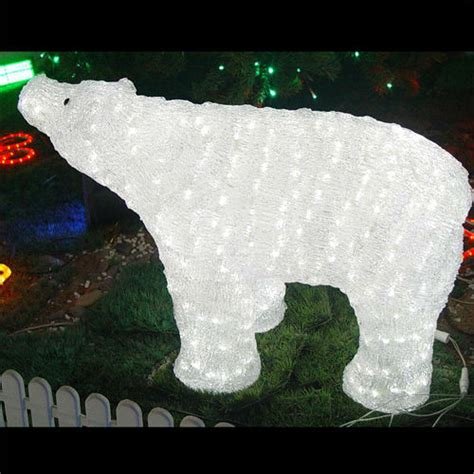Light Up Polar Decoration by 3d Led Light Polar Outdoor Lighted