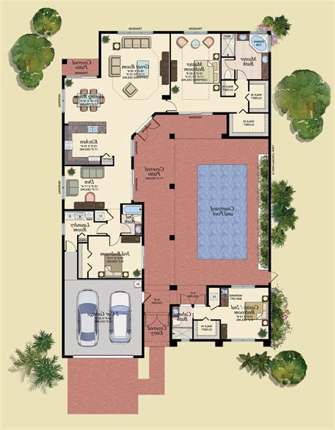 small courtyard house plans small house plans with courtyards south west house plans