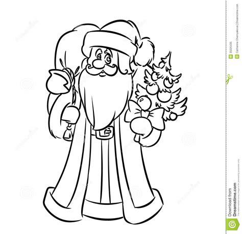 santa bag coloring page santa claus coloring pages royalty free stock photo